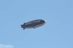 The Good Year blimp flying around the Expo