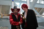 Mihawk and Shanks hanging outside the 21 lounge