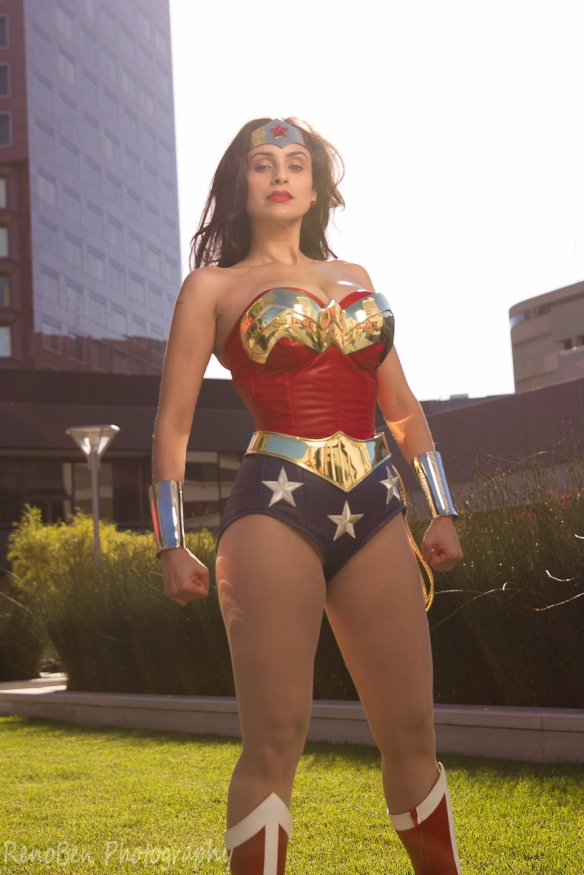 Valerie Perez in her Wonder Woman cosplay